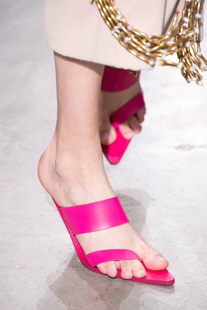 Schiaparelli , sandals, hot pink, toe sandals