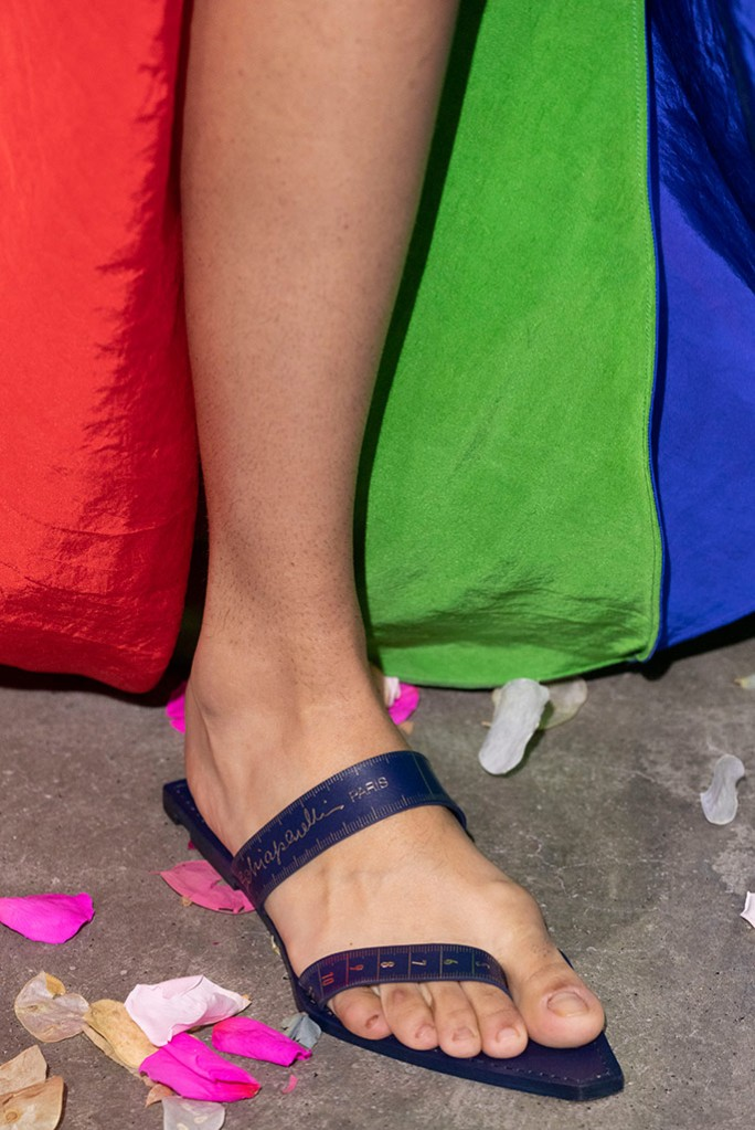 Schiaparelli measuring tape sandals