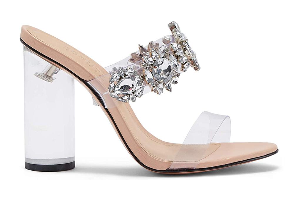schutz clear heels
