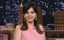 Selena Gomez, miu miu, pink dress,