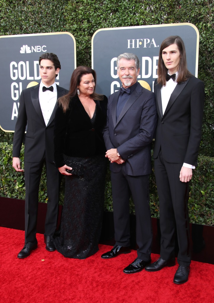 Paris Brosnan, Keely Shaye Smith, Pierce Brosnan and Dylan Brosnan77th Annual Golden Globe Awards, Arrivals, Los Angeles, USA - 05 Jan 2020