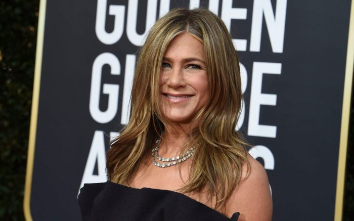 Jennifer Aniston arrives at the 77th annual Golden Globe Awards at the Beverly Hilton Hotel, in Beverly Hills, Calif77th Annual Golden Globe Awards - Arrivals, Beverly Hills, USA - 05 Jan 2020