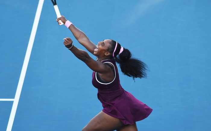 United States Serena Williams celebrates winning her finals singles match against United States Jessica Pegula at the ASB Classic in Auckland, New ZealandTennis ASB Classic, Auckland, New Zealand - 09 Jan 2020