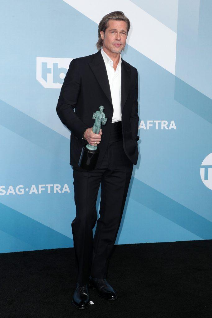 Brad Pitt - Outstanding Performance by a Male Actor in a Supporting Role - Once Upon a Time in Hollywood26th Annual Screen Actors Guild Awards, Press Room, Shrine Auditorium, Los Angeles, USA - 19 Jan 2020