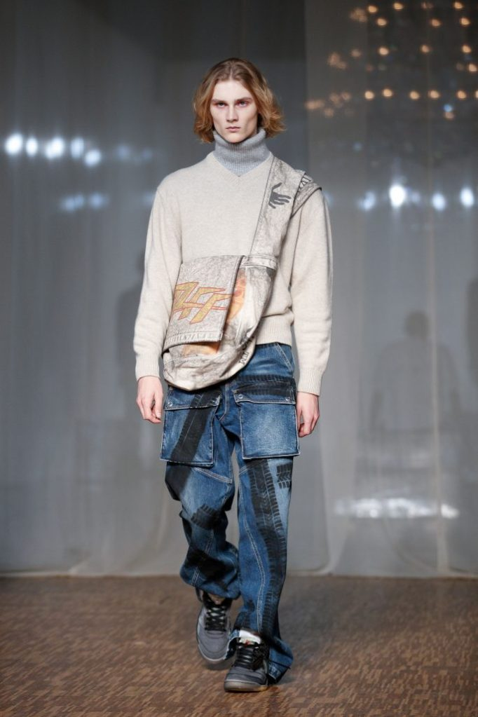 off-white, mens, runway, pfw, A model presents a creation from the Fall/ Winter 2020/2021 Ready to Wear collection by US designer Virgil Abloh for Off-White during the Paris Fashion Week, in Paris, France, 15 January 2020. The presentation of the men's collections runs from 14 to 19 January.Off White - Runway - Paris Men's Fashion Week F/W 2020/21, France - 15 Jan 2020
