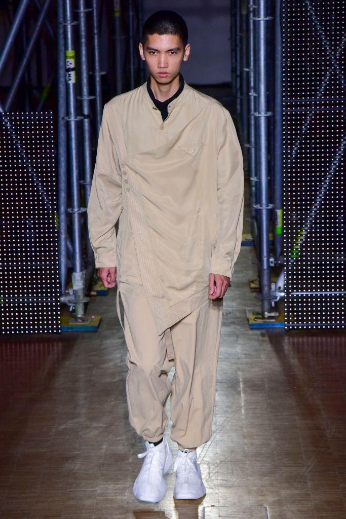 Model on the catwalkLi-Ning show, Runway, Autumn Winter 2020, Paris Fashion Week Men's, France - 18 Jan 2020
