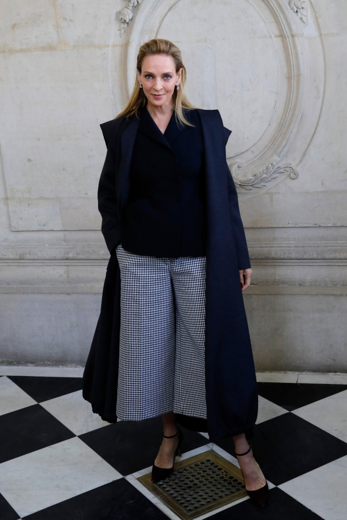 Actress Uma Thurman poses before Dior Haute Couture Spring/Summer 2020 fashion collection, Monday Jan.20, 2020 in ParisFashion Haute Couture S/S 2020 Dior Photocall, Paris, France - 20 Jan 2020