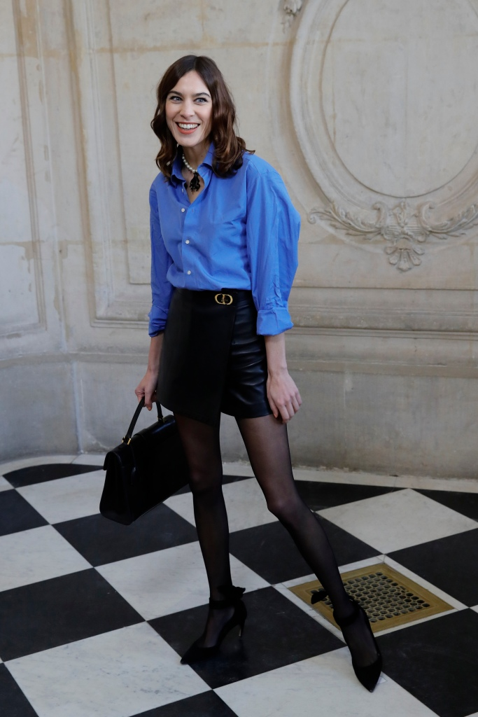 Alexa Chung poses before Dior Haute Couture Spring/Summer 2020 fashion collection, Monday Jan.20, 2020 in ParisFashion Haute Couture S/S 2020 Dior Photocall, Paris, France - 20 Jan 2020