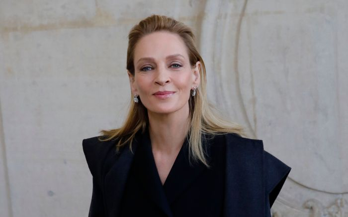 Actress Uma Thurman poses before Dior Haute Couture Spring/Summer 2020 fashion collection, Monday Jan.20, 2020 in Paris Fashion Haute Couture S/S 2020 Dior Photocall, Paris, France - 20 Jan 2020