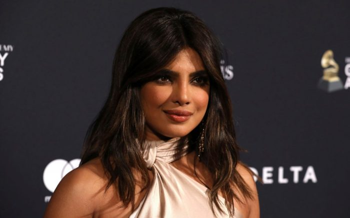 Priyanka Chopra Jonas arrives at the Pre-Grammy Gala And Salute To Industry Icons at the Beverly Hilton Hotel, in Beverly Hills, Calif2020 Pre-Grammy Gala And Salute To Industry - Arrivals, Beverly Hills, USA - 25 Jan 2020