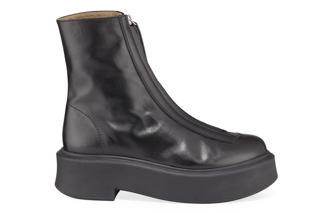 the row, zippered boot, zip-up boot