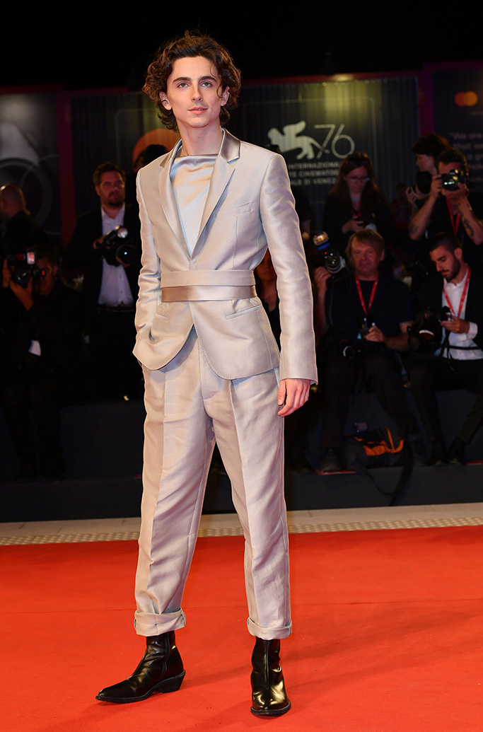 Timothee Chalamet'The King' premiere, 76th Venice Film Festival, Italy - 02 Sep 2019 Wearing Haider Ackermann