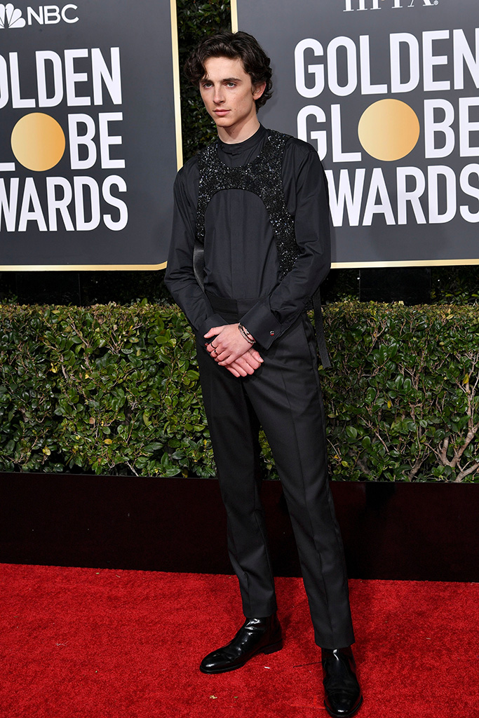 Timothee Chalamet76th Annual Golden Globe Awards, Arrivals, Los Angeles, USA - 06 Jan 2019 Wearing Louis Vuitton