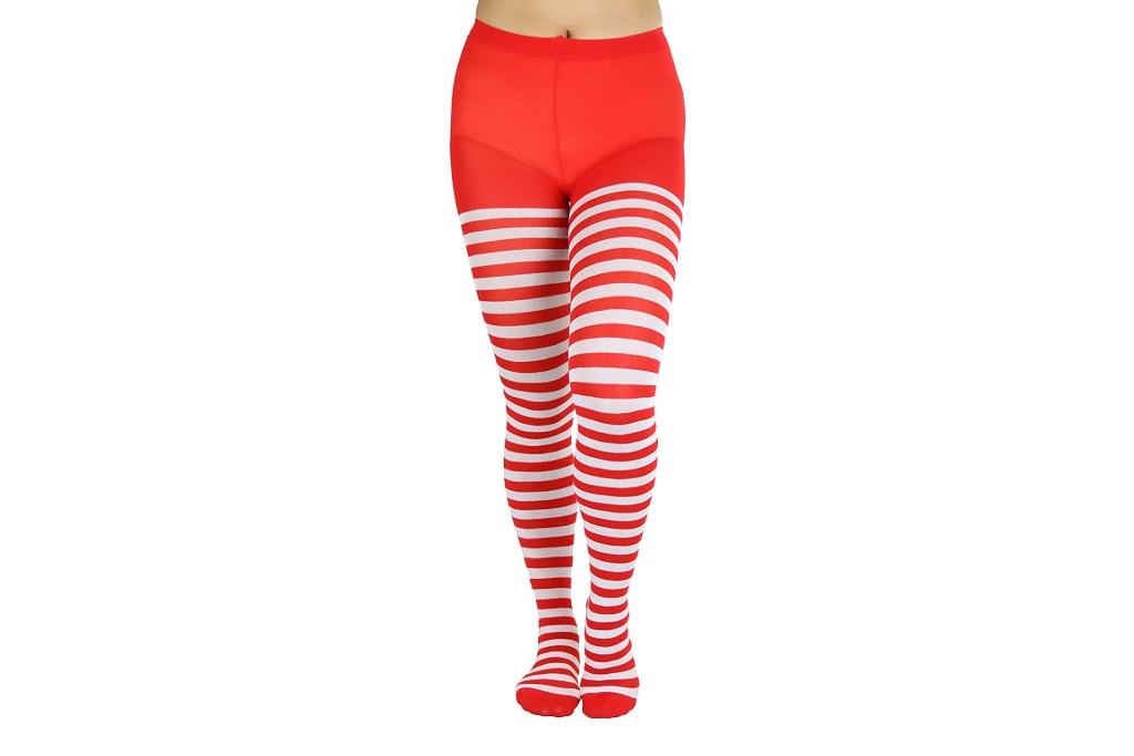 ToBeInStyle Women's Nylon Horizontal Striped Tights, striped tights