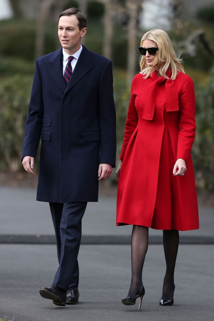 ivanka trump, red coat, carolina herrera, sheer tights, stockings, black pumps, stilettos, Senior Advisors to the President, Jared Kushner and Ivanka Trump attend a signing ceremony the United States-Mexico-Canada Trade Agreement (USMCA), on the South Lawn of the White House in Washington, DC, USA, 29 January 2020. The Trump administration says the revised North American Free Trade agreement will create six hundred thousand jobs.US President Donald J. Trump participates in a signing ceremony for the United States-Mexico-Canada Trade Agreement (USMCA), Washington, USA - 30 Jan 2020