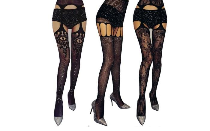 fishnet suspender stockings