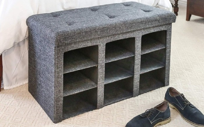 seville classics ottoman for storing shoes