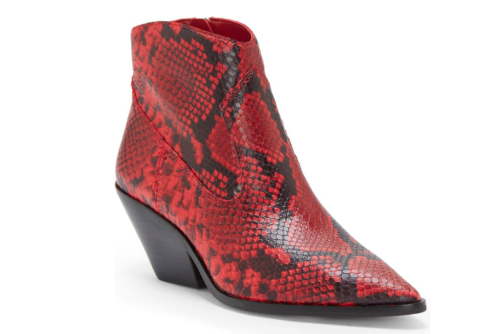 Vince Camuto, snake print boot