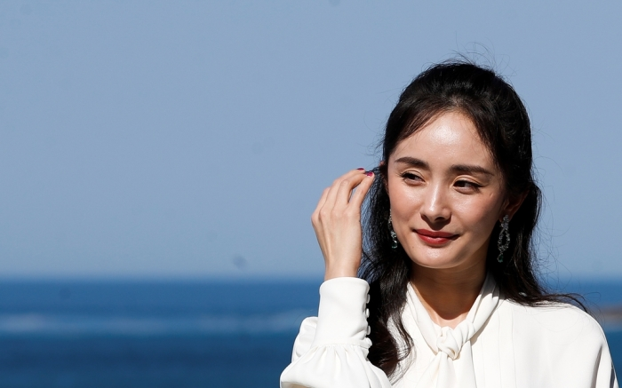 Actress Mi Yang poses during a photocall for 'Bao bei er' at the San Sebastian International Film Festival, in San Sebastian, Basque Country, Spain, 27 September 2018. The 66th edition of the SSIFF runs from 21 to 29 September.66th San Sebastian International Film Festival, Spain - 27 Sep 2018