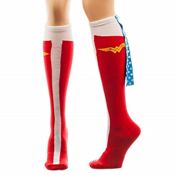 Wonder Woman Caped Knee Socks