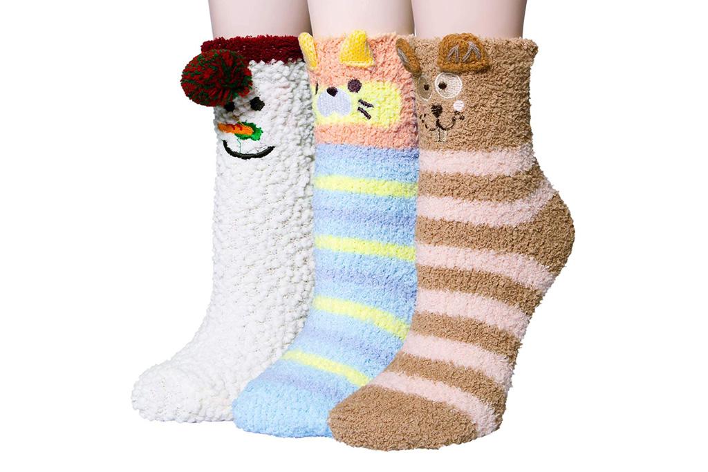 ysense fuzzy socks