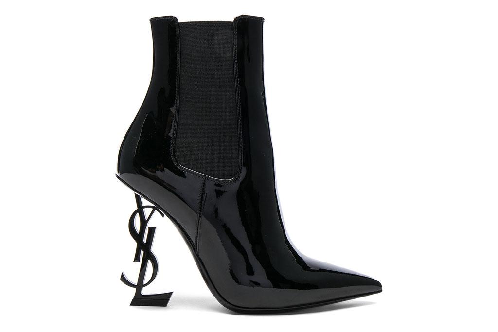 Saint Laurent , patent leather, monogram, ankle boots