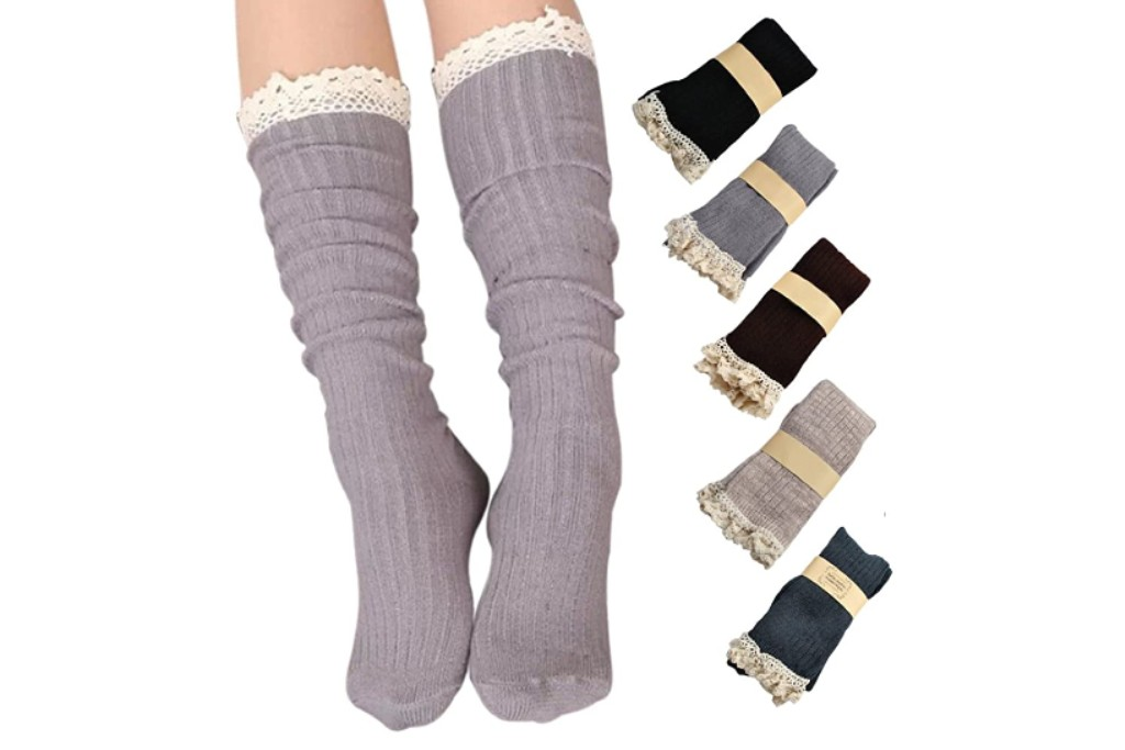 Roniky Lace Trim Boot Socks