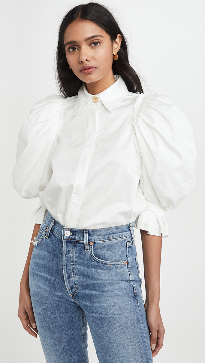 Aje puff sleeve top
