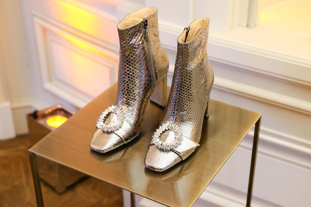 Alexandre Birman, square toe, silver boots