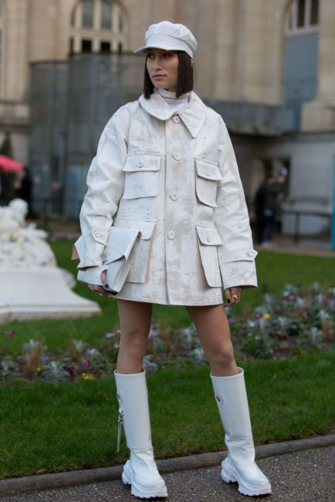 paris fashion week, white, Alexandra Guerain, maison margiela, margiela