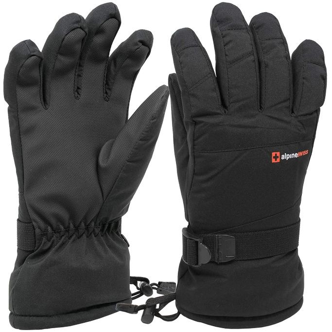 Alpine Swiss Mens Waterproof Gauntlet Ski Gloves