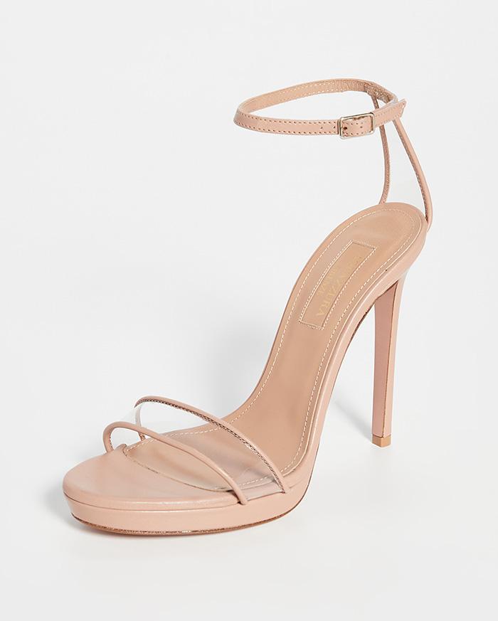 aquazzura heels, sandals, pvc