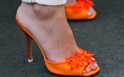 The Attico, orange sandals, helena bordon,