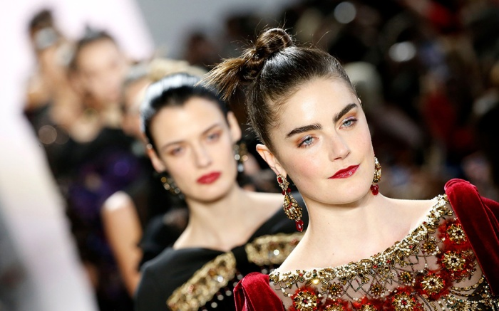 Models on the catwalk, Badgley Mischka show, Runway, Fall Winter 2020, New York Fashion Week, USA - 08 Feb 2020