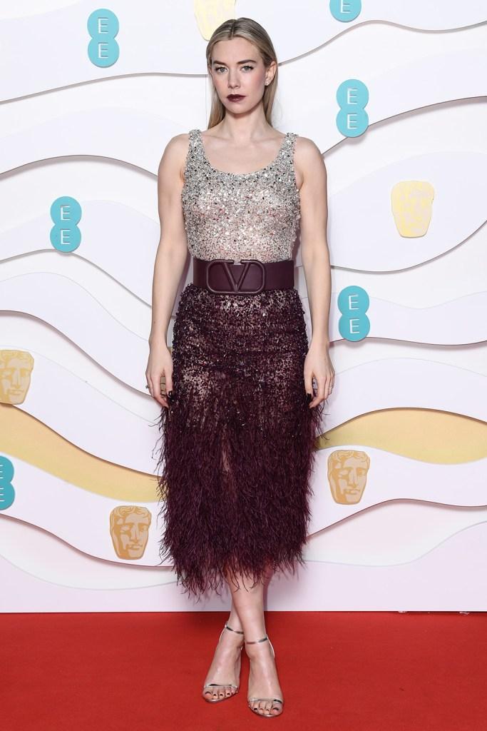 Vanessa Kirby, valentino, dress, celebrity style, 73rd British Academy Film Awards, Arrivals, Royal Albert Hall, London, UK - 02 Feb 2020Wearing Valentino