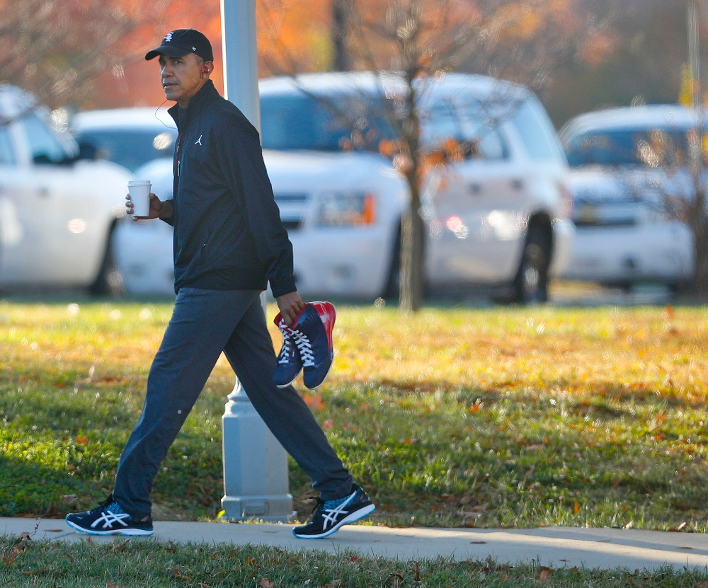 barack obama, sneakers, style, dad shoes, asics, basketball