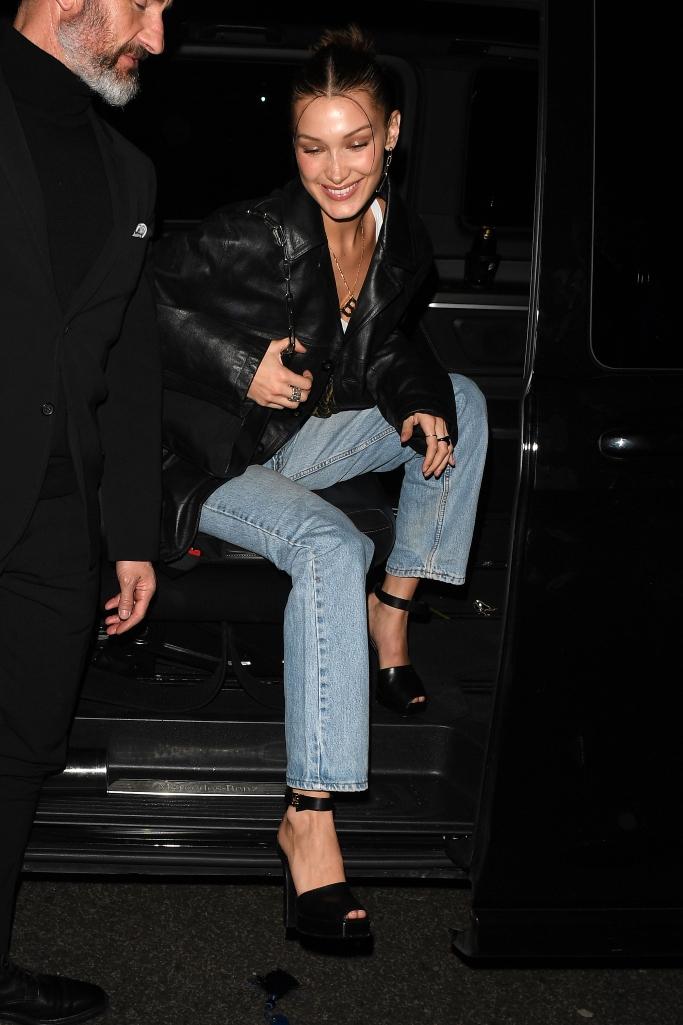 bella hadid, love magazine fashion party, london fashion week