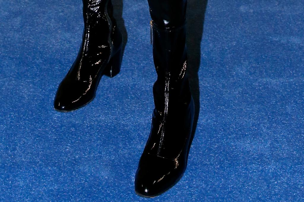 Richard Quinn, runway, london fsashion week, billy porter, black boots, front row
