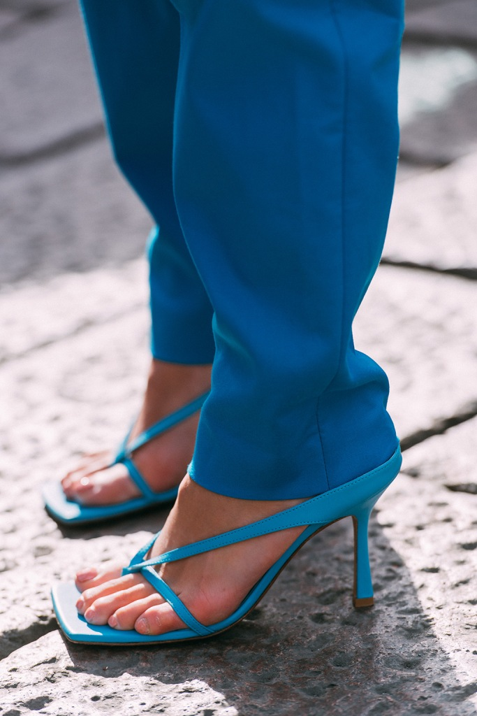 Bottega Veneta , milan fashion week, street style, thong sandals,