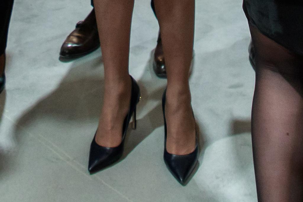 Brigitte Macron, louis vuitton eyeline, black pumps, celebrity style, first lady of france, paris
