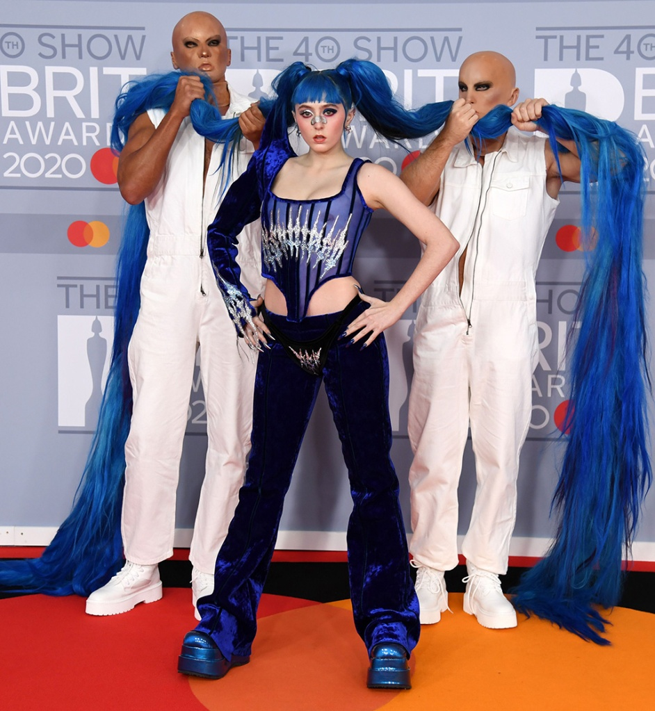 Ashnikko, blue hair, 40th Brit Awards, Arrivals, Fashion Highlights, The O2 Arena, London, UK - 18 Feb 2020