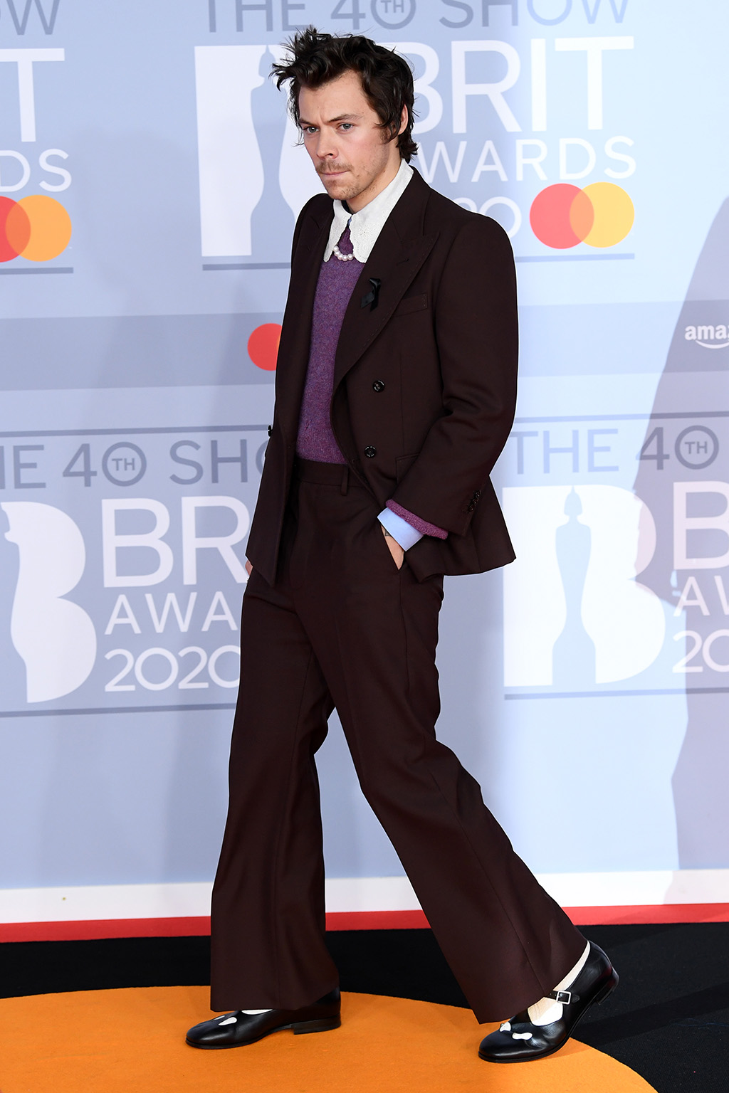 Harry Styles, 40th Brit Awards, Arrivals, The O2 Arena, London, UK - 18 Feb 2020