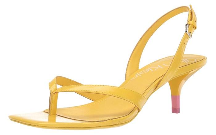 calvin klein square toe sandal