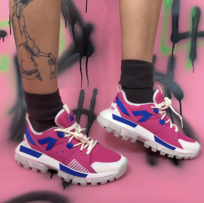 yellabambi, depop, cat footwear, sneakers, pink
