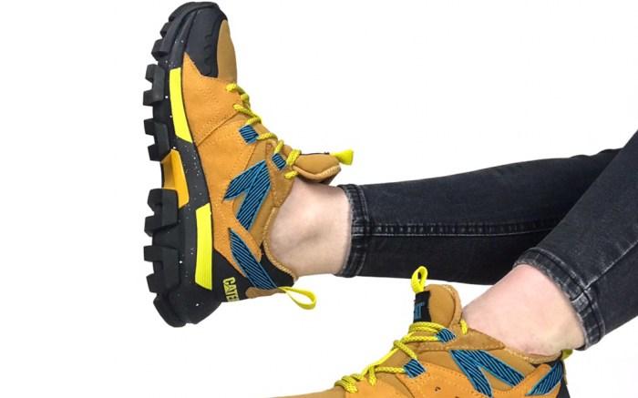 depop, cat footwear, sneakers, pink, white, raider sport