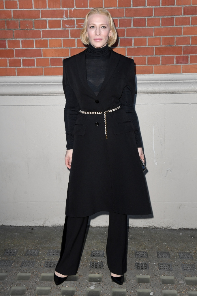 cate blanchett, burberry fall 2020 show, london fashion week