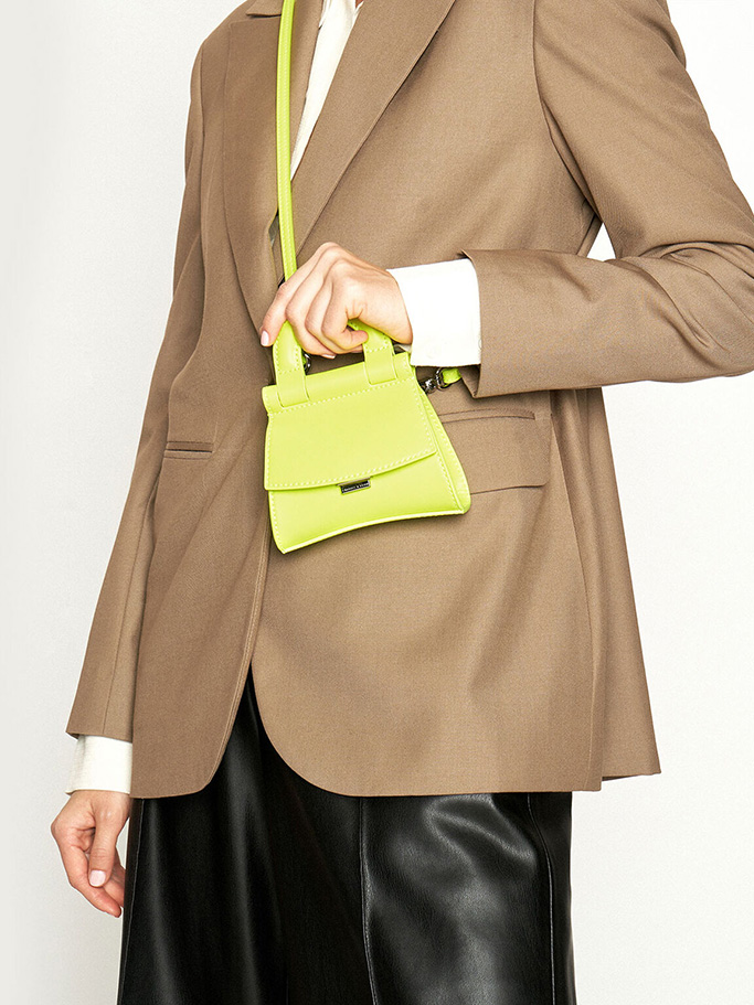 Charles and Keith mini neon bag