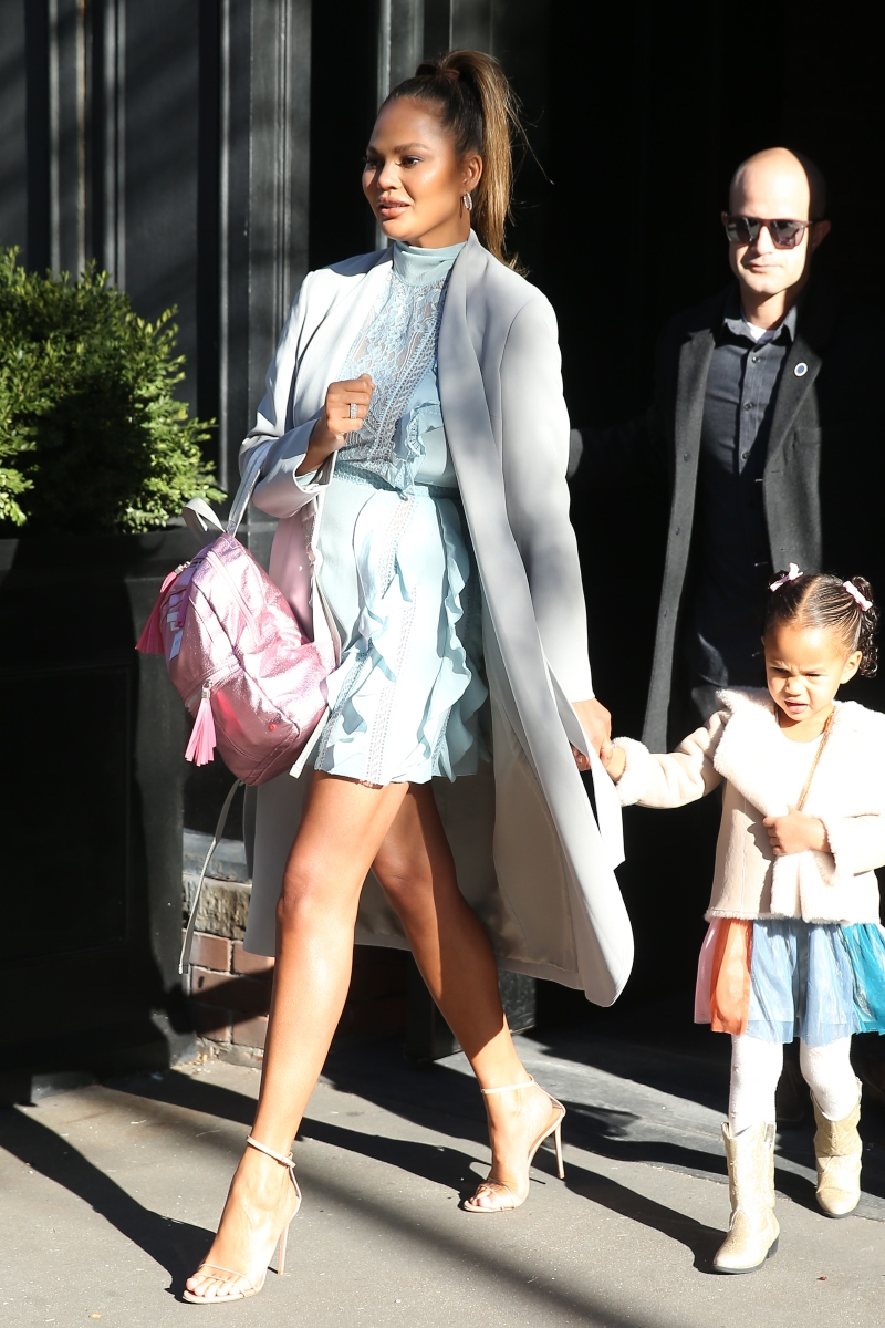 chrissy teigen, shoes, new york, pvc, heels, nyc, luna