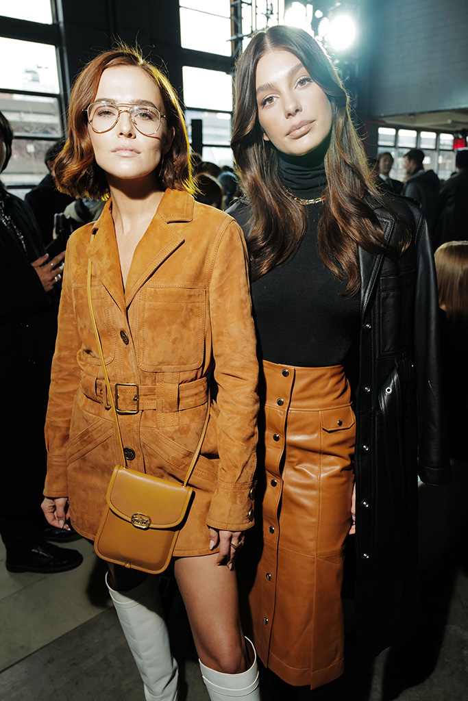 Zoey Deutch and Camila Morrone in the front rowCoach show, Front Row, Fall Winter 2020, New York Fashion Week, USA - 11 Feb 2020