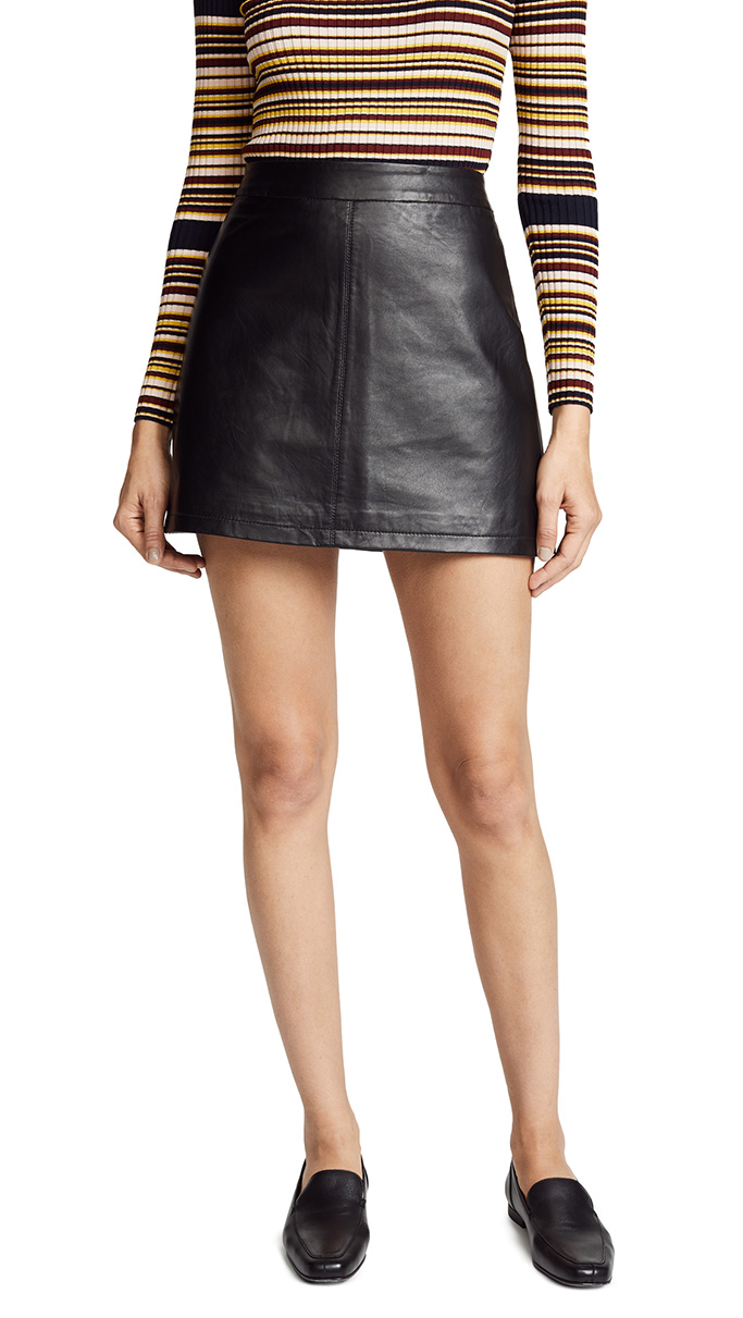Cupcakes and Cashmere leather mini skirt
